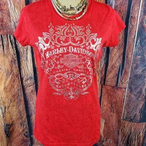 "Harley Davidson "" Legacy"" Red Tee. Size Xl…"